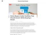Home Buyers Guide: Facilities That Should Govern While Buying a House | Pocono Real Estate
