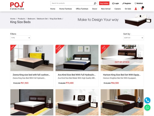 King Size Bed Online in Jharkhand