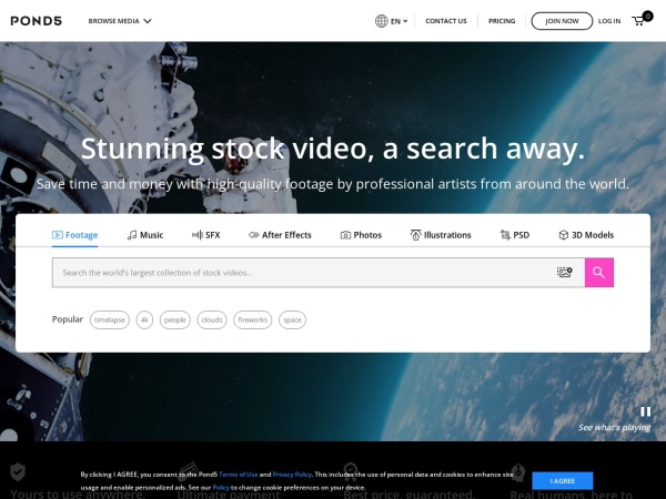 Pond5 - 15 Best Websites to Download Free Stock Footage (2020)