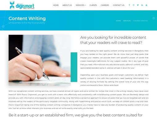 Content Writing Company in Bangalore   Content Writing Services in Bangalore
