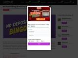 No Deposit Bingo Bonus For Online Bingo Players