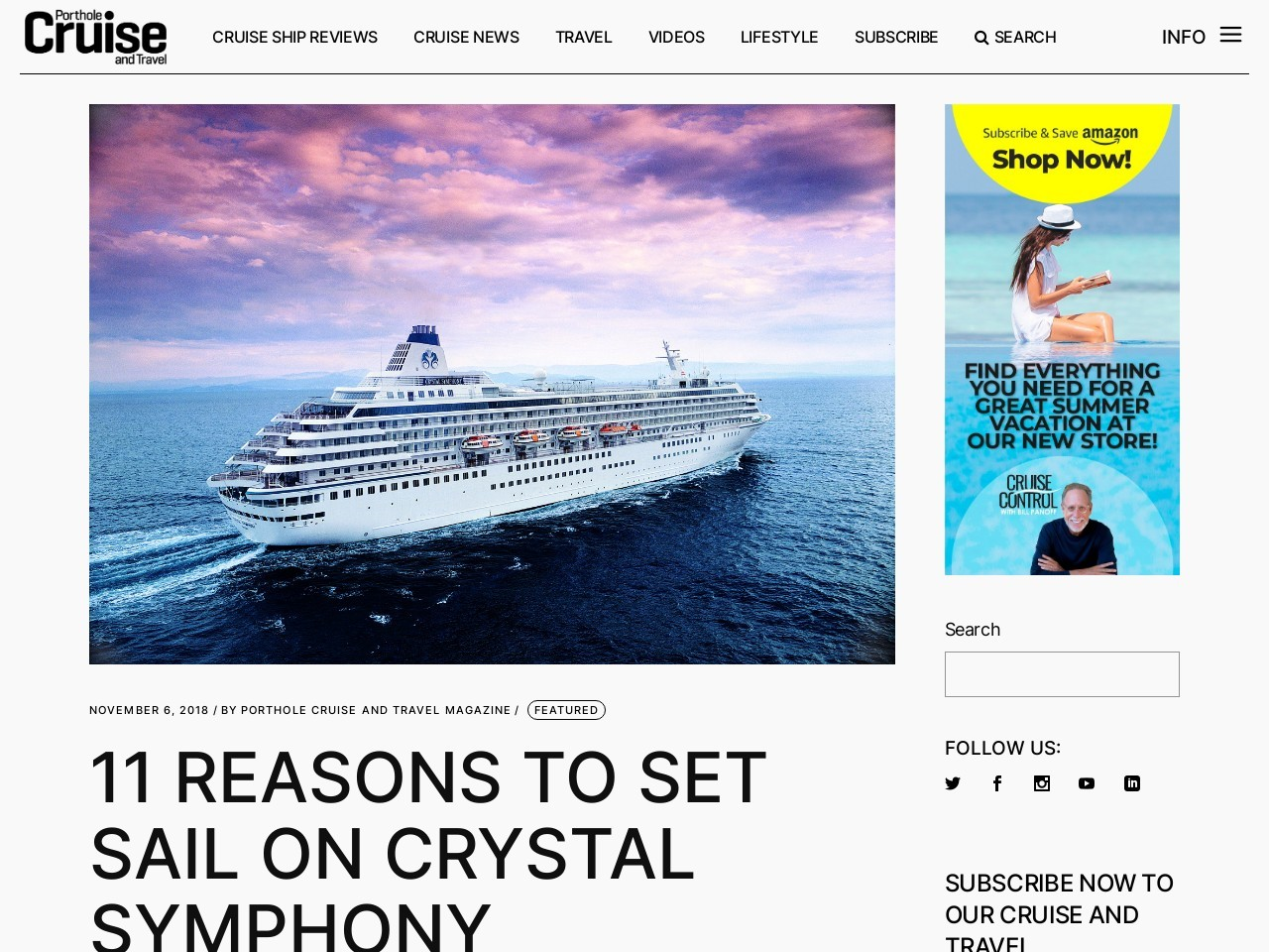 11 Reasons To Set Sail On The Crystal Symphony