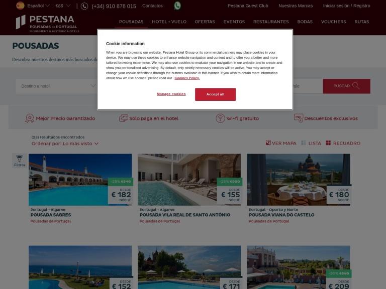 Pestana ES screenshot