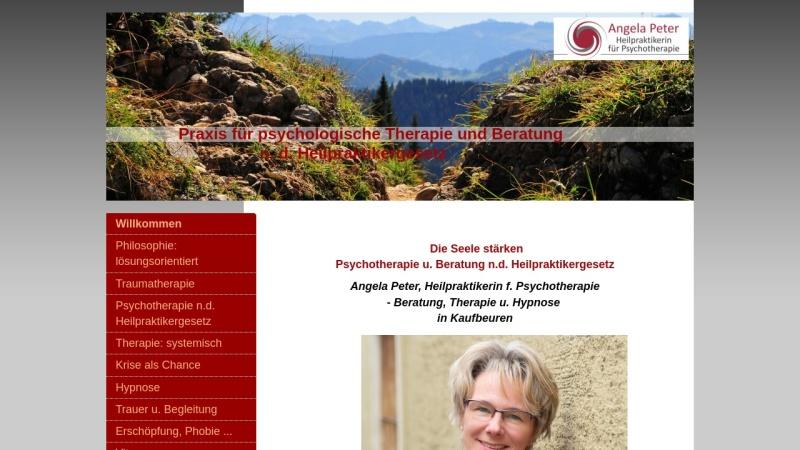 www.praxis-fuer-psychologische-therapie-und-beratung.com Vorschau, Angela Peter - Heilpraktikerin für Psychotherapie