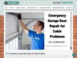 Emergency Garage Door Repair for Cable Problems