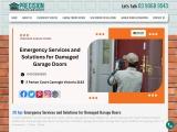 Emergency garage door repair | precisiongaragedoors.com