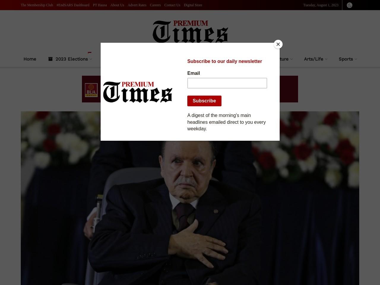 Algeria's Bouteflika sacks two generals to ease grip on power – Sources