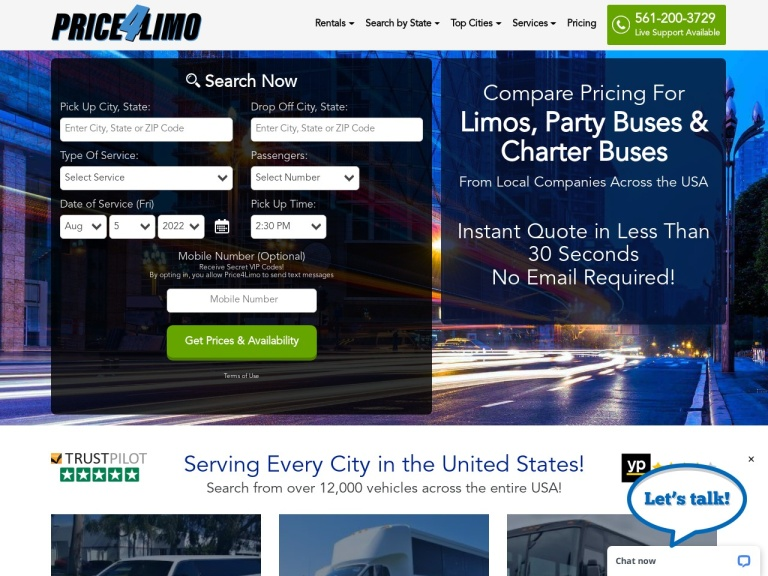 Price 4 Limo And Bus Rental screenshot