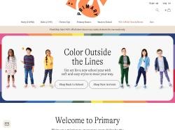 Primary.com screenshot
