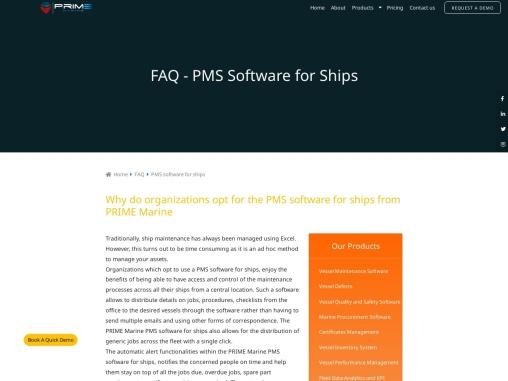 PMS software for ships PMS software for ships