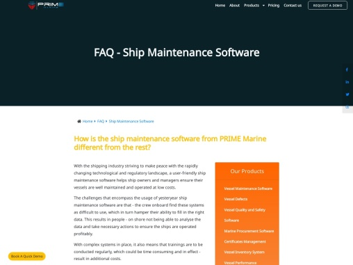 Ship Maintenance Software Ship Maintenance Software