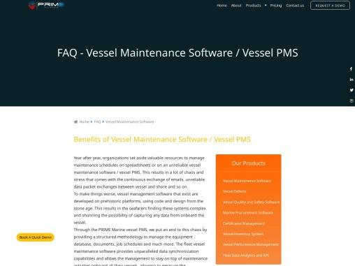 Vessel Maintenance Software Vessel Maintenance Software