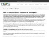Best uPVC Doors and Windows Suppliers in Hyderabad | Windows Dealers