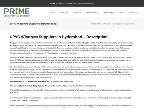 Best uPVC Doors and Windows Suppliers in Hyderabad   Windows Dealers