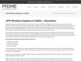 uPVC Doors and Windows Suppliers in Odisha | Windows Dealers