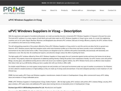 Best uPVC Doors and Windows Suppliers in Vizag   Windows Dealers
