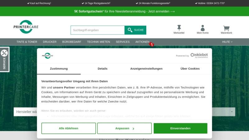 www.printer-care.de Vorschau, Printer Care