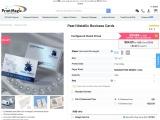 Book Pearl metallic business cards at PrintMagic