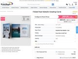 Buy Folded Pearl Metallic Greeting Cards from PrintMagic