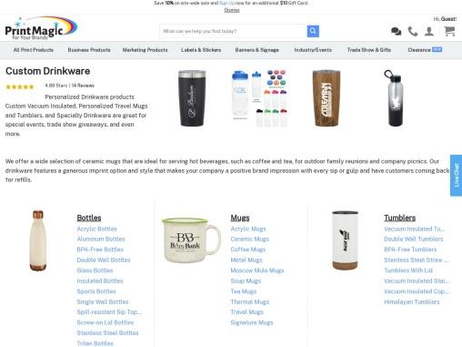 Buy Custom Drinkware at PrintMagic