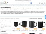 Print custom ceramic mugs online in bulk at affordable prices from PrintMagic