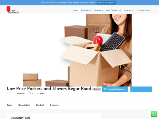 Low Price Packers and Movers Begur Road Open now