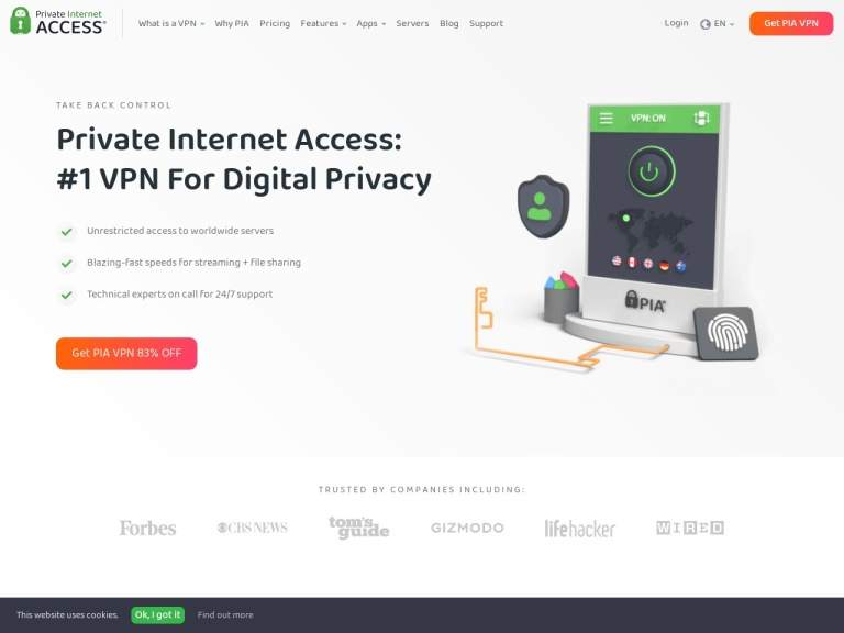 Private Internet Access Coupon Codes screenshot