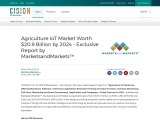 Agriculture IoT Market Worth $20.9 Billion by 2024 – Exclusive Report by MarketsandMarkets™