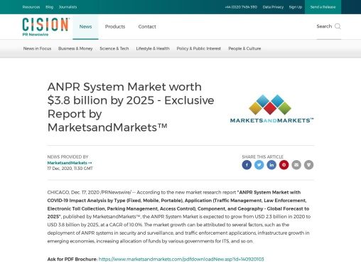 COVID-19 Impact on the Global ANPR system Market