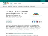 3D and 4D Technology Market worth $465.0 billion by 2025