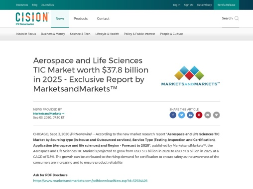 AEROSPACE AND LIFE SCIENCES TIC MARKET: DRIVERS, RESTRAINTS, OPPORTUNITIES, AND CHALLENGES