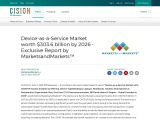Device-as-a-Service Market worth $303.6 billion by 2026 – Exclusive Report by MarketsandMarkets™