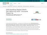 EMI Shielding Market Worth $9.2 Billion by 2025 – Exclusive Report by MarketsandMarkets™