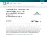 Gallium Nitride Semiconductor Device Market worth $24.9 billion by 2026