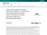 Gesture Recognition Market Worth $32.3 Billion in 2025 and Touchless Sensing Market Worth 15.3 Billi