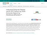 Industrial Ethernet Market worth $13.7 billion by 2026 – Exclusive Report by MarketsandMarkets™
