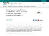 Smart Appliances Market worth $76.4 billion by 2026