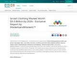 Smart Clothing Market Worth $5.3 Billion by 2024 – Exclusive Report by MarketsandMarkets™