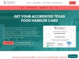Texas food handler certificate online