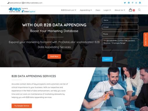 B2B Data Appending | Data Appending Email List