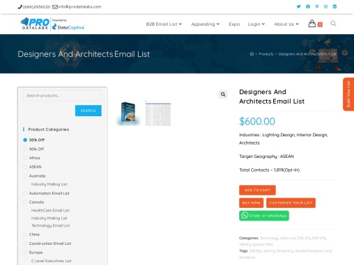 Get opt-in Explore Architects Contact List – ProdataLeads