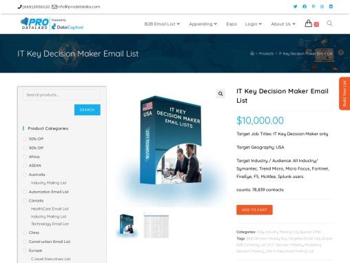 Online Verified IT Key Executives Decision Maker| IT Key Decision Maker Mailing List