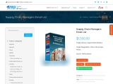 Supply Chain Managers Email List | B2B Mailing List