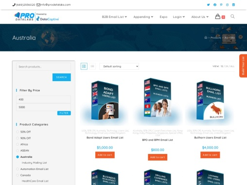 Buy  Australia Email Database| Australia Mailing List