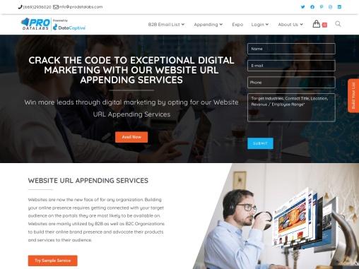 Website URL Append |  Web Address Appending Services
