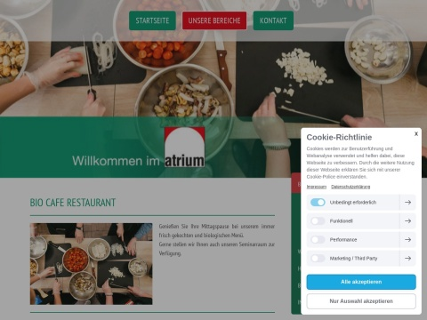 atrium - Bio-Café-Restaurant