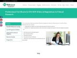 Professional Certificate In ICH-GCP, Ethics & Regulations In Clinical Research