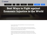 Best Ways to Fight against Economic Injustice in the World