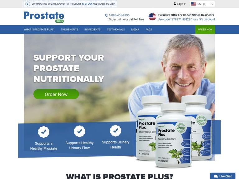 Prostate Support screenshot