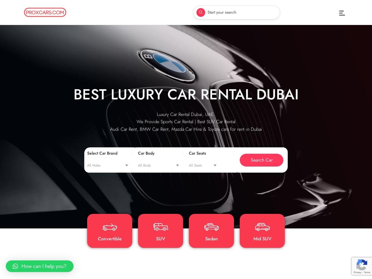 Rent A Short Term Car In Dubai